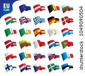flags of the european union | Shutterstock .eps vector #1049090504