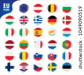 flags of the european union   Shutterstock .eps vector #1049090519