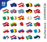 flags of the european union | Shutterstock .eps vector #1049090528