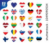 flags of the european union | Shutterstock .eps vector #1049090534