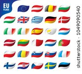 flags of the european union | Shutterstock .eps vector #1049090540