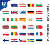 flags of the european union | Shutterstock .eps vector #1049090558