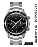 realistic watch clock... | Shutterstock .eps vector #1049091053