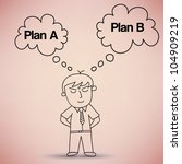 businessman thinking about plan ...   Shutterstock .eps vector #104909219