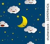 cute sky pattern. seamless... | Shutterstock .eps vector #1049096426
