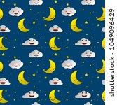 cute sky pattern. seamless... | Shutterstock .eps vector #1049096429