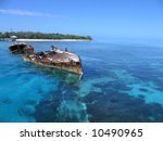 Ship Wreck In Crystal Clear...