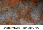rusted on surface of the old... | Shutterstock . vector #1049099729