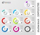 percentage diagram. infographic ...   Shutterstock .eps vector #1049101700
