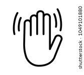 hand wave   waving hi  hello ... | Shutterstock .eps vector #1049101880