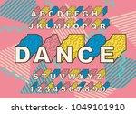 90's retro alphabet font.... | Shutterstock .eps vector #1049101910