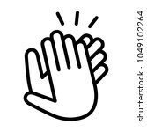 hands clapping  applauding or... | Shutterstock .eps vector #1049102264