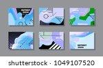 creative design for cards ... | Shutterstock .eps vector #1049107520