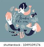 cute hand drawn poster design... | Shutterstock .eps vector #1049109176