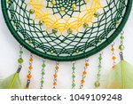 dream catcher with feathers... | Shutterstock . vector #1049109248