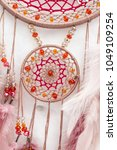 dream catcher with feathers... | Shutterstock . vector #1049109254