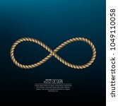 symbol infinity twisted from a... | Shutterstock .eps vector #1049110058