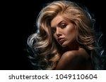 beauty headshot of fashion... | Shutterstock . vector #1049110604