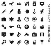 flat vector icon set   flask...   Shutterstock .eps vector #1049111360