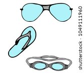 a set of sunglasses from the...   Shutterstock .eps vector #1049111960