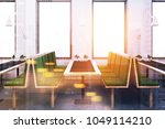 side view of a white pattern... | Shutterstock . vector #1049114210