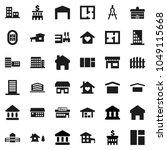 flat vector icon set  ... | Shutterstock .eps vector #1049115668