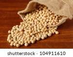 soy beans on wood table | Shutterstock . vector #104911610