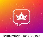 crown icon. royal throne leader ... | Shutterstock .eps vector #1049120150