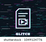 glitch effect. document with...