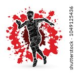 runner jogger athletic running... | Shutterstock .eps vector #1049125436