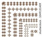 decorative border frame... | Shutterstock .eps vector #1049131409