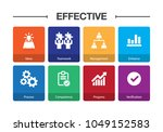 effective infographic icon set | Shutterstock .eps vector #1049152583