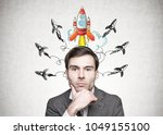 head and shoulders portrait of... | Shutterstock . vector #1049155100