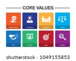 core values infographic icon set | Shutterstock .eps vector #1049155853