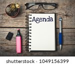 agenda business concept | Shutterstock . vector #1049156399
