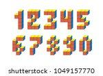 cube 3d isometric number... | Shutterstock .eps vector #1049157770
