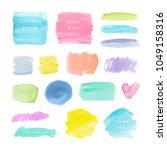 watercolor backgrounds in... | Shutterstock .eps vector #1049158316