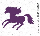isolated and drawn vector horse.... | Shutterstock .eps vector #1049160788