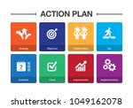 action plan infographic icon set | Shutterstock .eps vector #1049162078