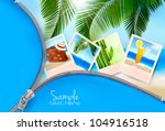 background with photos from... | Shutterstock .eps vector #104916518
