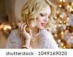 female portrait of cute lady... | Shutterstock . vector #1049169020