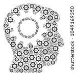 intellect gear mosaic of gear... | Shutterstock .eps vector #1049169350