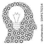 intellect bulb collage of... | Shutterstock .eps vector #1049170214