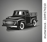 old retro pickup truck vector... | Shutterstock .eps vector #1049174210