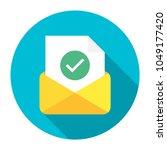 post icon. letter. envelope... | Shutterstock .eps vector #1049177420
