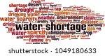 water shortage word cloud... | Shutterstock .eps vector #1049180633