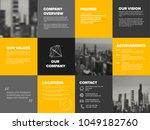 company profile template  ... | Shutterstock .eps vector #1049182760