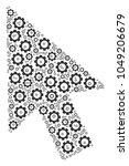 mouse cursor composition of cog ...