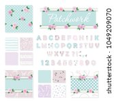 patchwork girly decorative... | Shutterstock .eps vector #1049209070