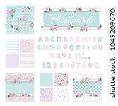 patchwork girly decorative... | Shutterstock .eps vector #1049209070